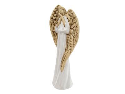 Anioł Gabriel 37 X 18 Cm Figurka Dekoracyjna Gipsowa